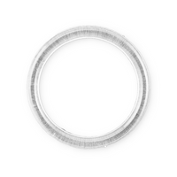 "5"" clear plastic rings 12 pieces - artcovecrafts.com"