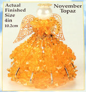 November Birthstone Angel Christmas Ornament Kit - artcovecrafts.com