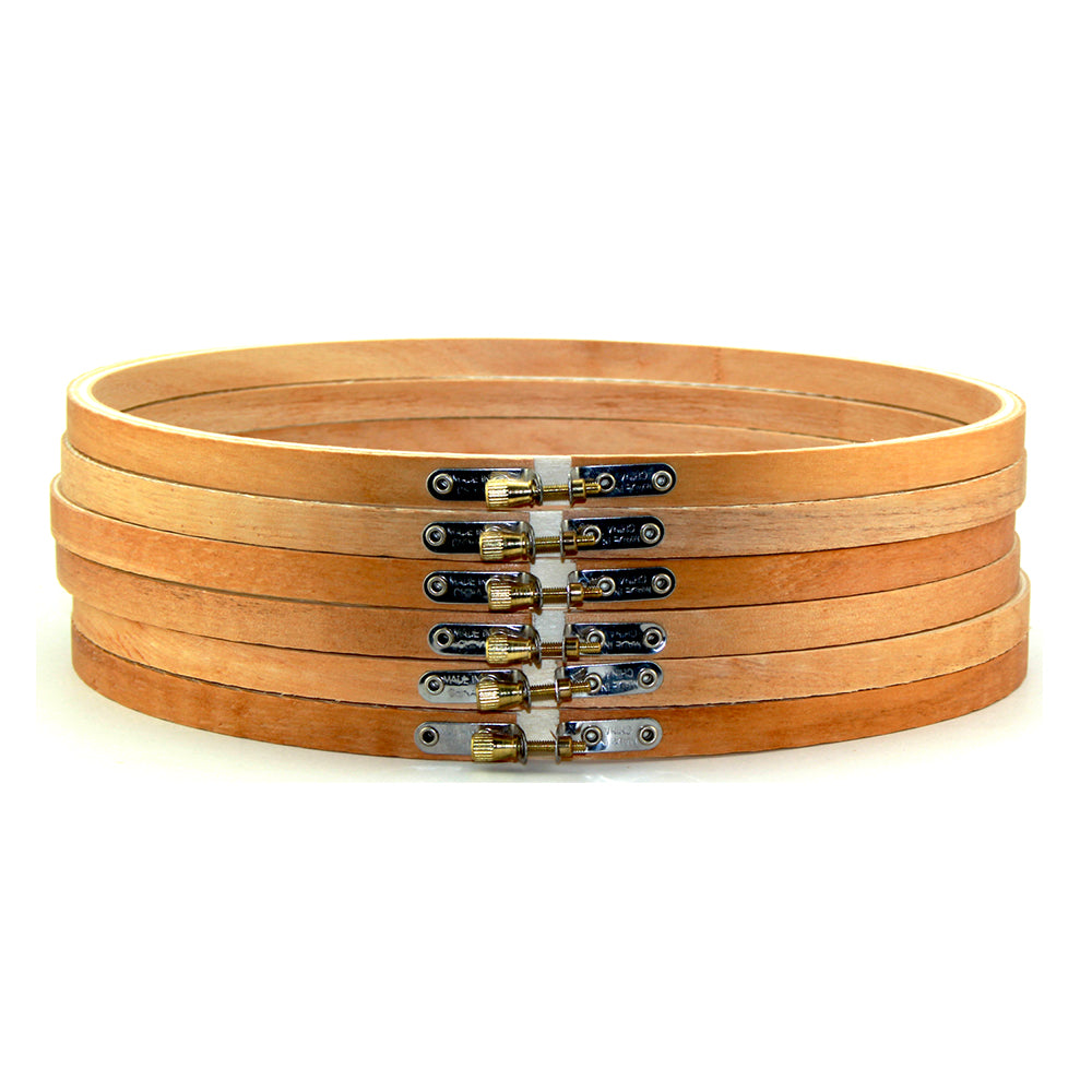 10 inch Large Round Wooden Embroidery Hoops Bulk 6 Pieces - artcovecrafts.com