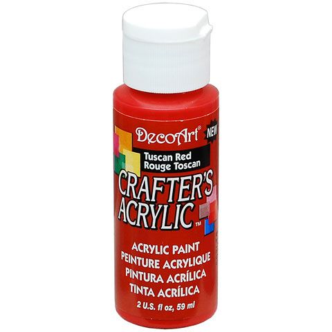 DecoArt Crafters Acrylic Paint-Tuscan Red 2 oz.