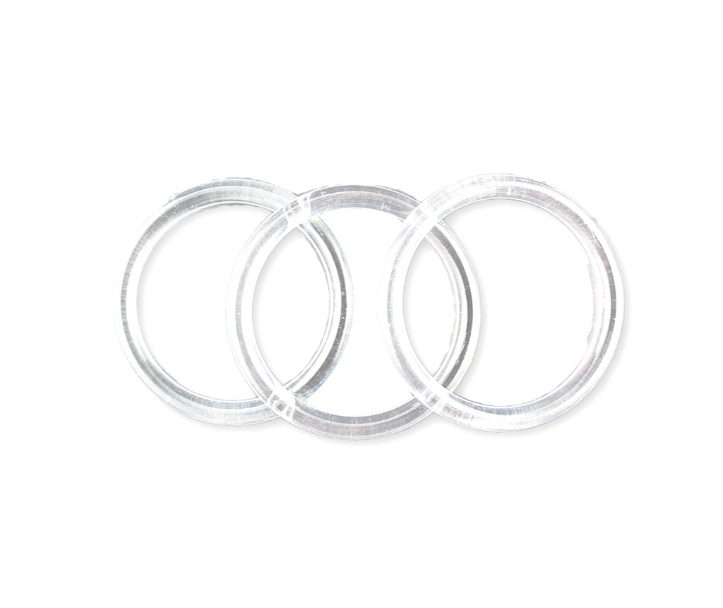 "4"" clear rings 12 pieces - artcovecrafts.com"