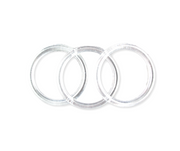 4 inch Clear Plastic Acrylic Craft Rings 5/16 inch Thick 12 Pieces - artcovecrafts.com