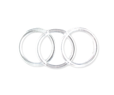 5 inch Clear Plastic Acrylic Craft Rings 5/16 inch Thick 12 Pieces - artcovecrafts.com