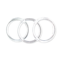 "3"" clear plastic rings 12 pieces - artcovecrafts.com"