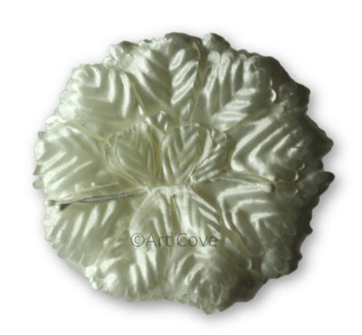 Ivory Capia Flowers Flat Carnation Capia Base for Corsages 12 Pieces - artcovecrafts.com