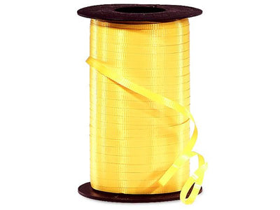 Dark Yellow Curling Ribbon 500 Yard Roll 3/16 Inch Wide. - artcovecrafts.com