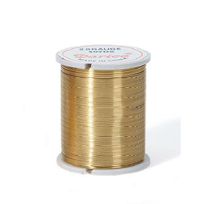 28 Gauge Darice Gold Beading Wire 17 yards