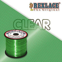 Clear Green Plastic Rexlace 100 Yard Roll - artcovecrafts.com