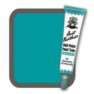 Teal Aunt Martha's Ballpoint Embroidery Fabric Paint Tube Pens 1 oz - artcovecrafts.com
