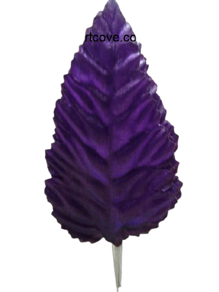 3.5 inch Purple Artificial Leaves with White Stems 144 Pieces