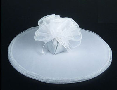 White Tulle Circle 9 inch with Metallic Silver Edge 10 Pieces - artcovecrafts.com