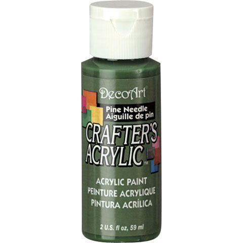 DecoArt Crafters Acrylic Paint-Pine Needle 2 oz.