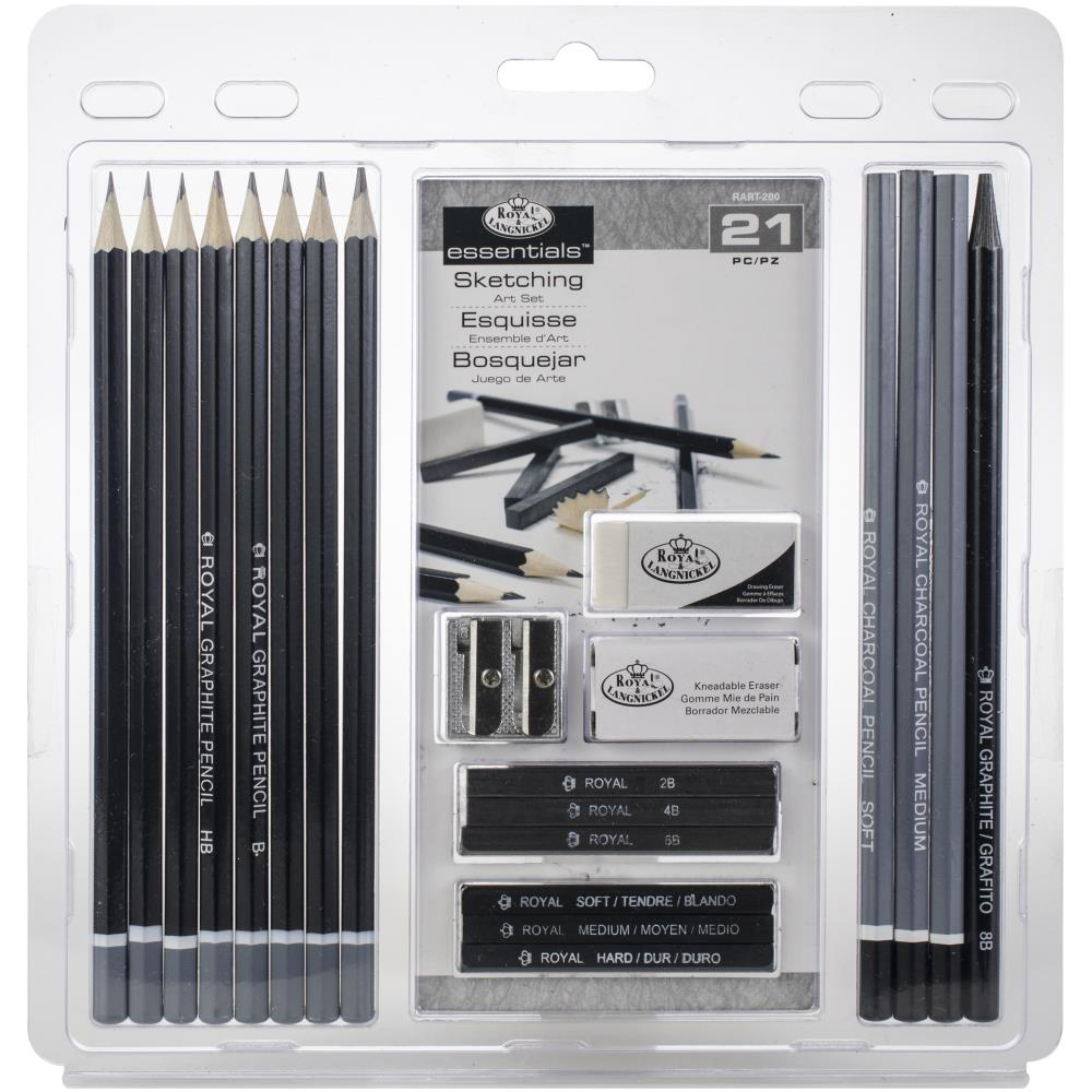 Royal & Langnickel Essentials Sketching Art Set 21 Pieces - artcovecrafts.com