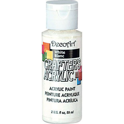 DecoArt Crafters Acrylic Paint-White 2 oz.