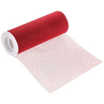 Red Glitter Tulle Roll 6 inch by 10 Yards