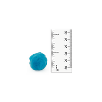 1 inch Turquoise Small Craft Pom Poms 100 Pieces - artcovecrafts.com