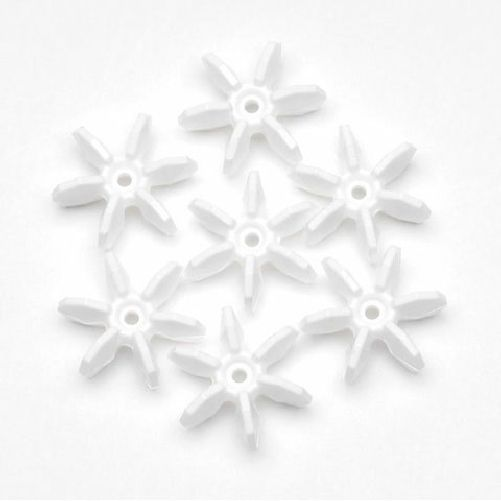 18mm Opaque White Starflake Beads 500 Pieces - artcovecrafts.com