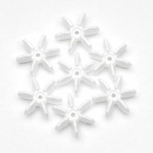 10mm Opaque White Starflake Beads 500 Pieces - artcovecrafts.com