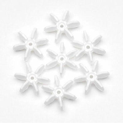 12mm Opague White Starflake Beads 500 Pieces - artcovecrafts.com