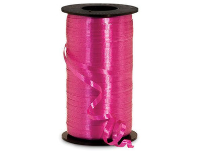 Fuchsia Curling Ribbon 500 Yard Roll 3/16 Inch Wide. - artcovecrafts.com