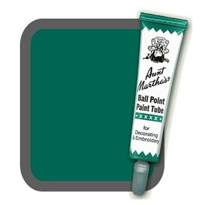 Forest Green Aunt Martha's Ballpoint Embroidery Fabric Paint Tube Pens 1 oz - artcovecrafts.com