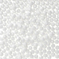 8mm Faceted Plastic Beads Opague White Bulk 1,000 Pieces - artcovecrafts.com