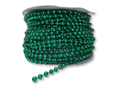 4mm Green Plastic Fused Pearls Garland Strands for Decorating & Crafts 24 Yards - artcovecrafts.com