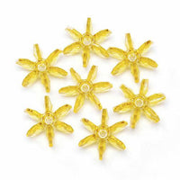 25mm Transparent Sun Gold Starflake Beads 144 Pieces - artcovecrafts.com