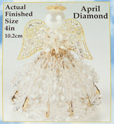 April Birthstone Angel Christmas Ornament Kit - artcovecrafts.com