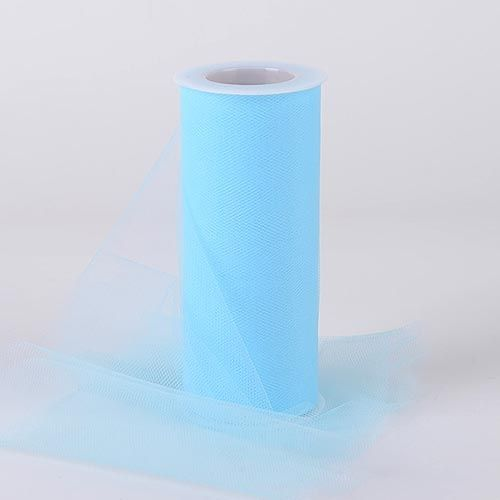 Light Blue Tulle 6 inch Roll 25 Yards - artcovecrafts.com