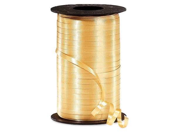 Gold Curling Ribbon 500 Yard Roll 3/16 Inch Wide. - artcovecrafts.com