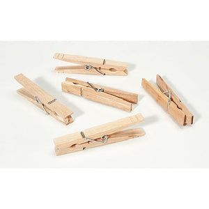 3.25 inches Darice Large Natural Spring Clothespins 30 pieces 9151-11 - artcovecrafts.com