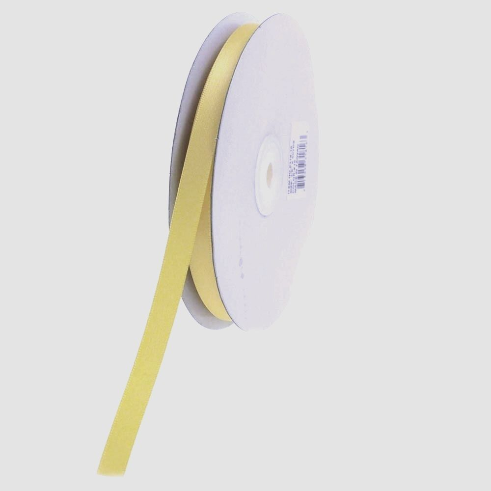 3/8 inch Yellow Satin Ribbon Double Faced 100 Yard Roll