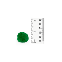 1 inch Kelly Green Small Craft Pom Poms 100 Pieces - artcovecrafts.com
