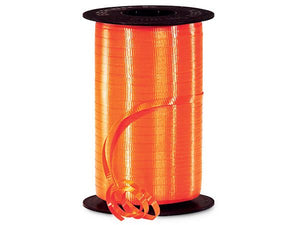 Orange Curling Ribbon 500 Yard Roll 3/16 Inch Wide. - artcovecrafts.com