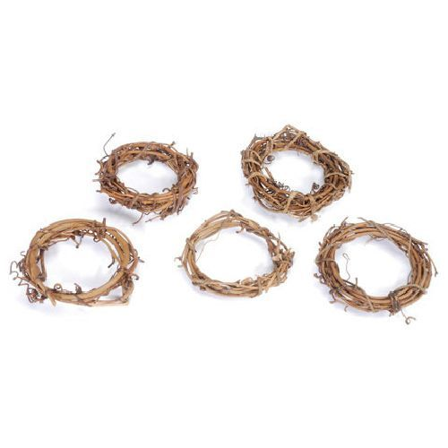 3 inch Natural Mini Grapevine Wreaths Bulk 24 Pieces - artcovecrafts.com