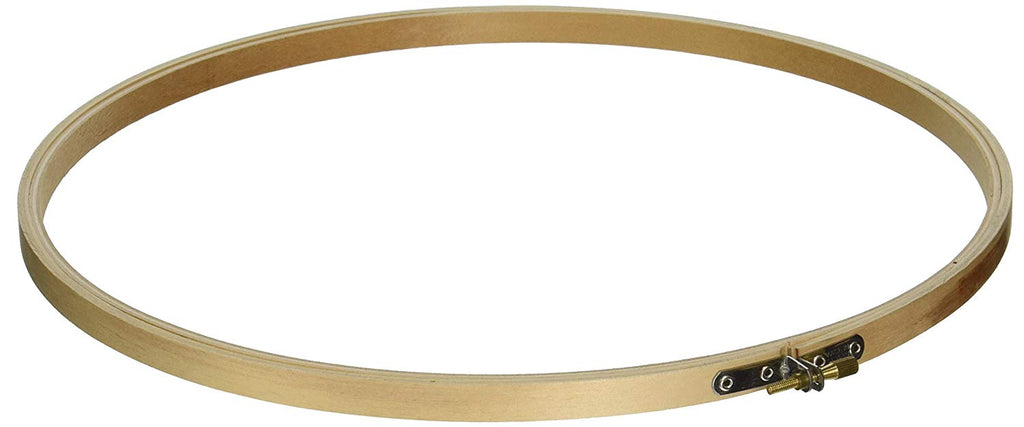 14 inch Large Round Wooden Embroidery Hoop 1 Piece - artcovecrafts.com