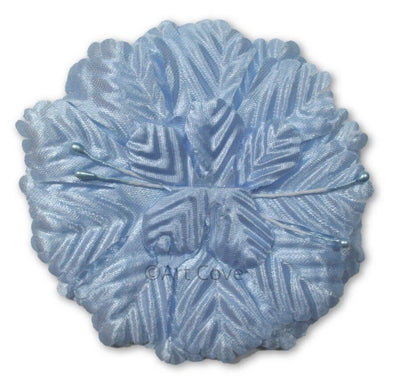 Light Blue Capia Flowers Flat Carnation Capia Base for Corsages 12 Pieces - artcovecrafts.com