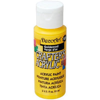 DecoArt Crafters Acrylic Paint-Goldenrod 2 oz.