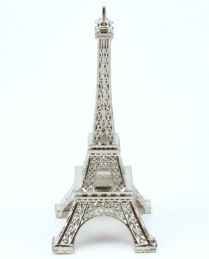 15 inch Silver Large Eiffel Tower Figurine 1 Piece - artcovecrafts.com