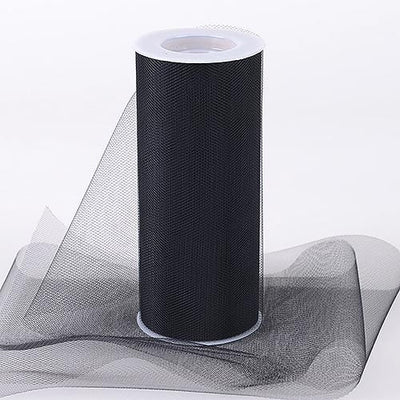 Black Tulle 6 inch Roll 25 Yards - artcovecrafts.com