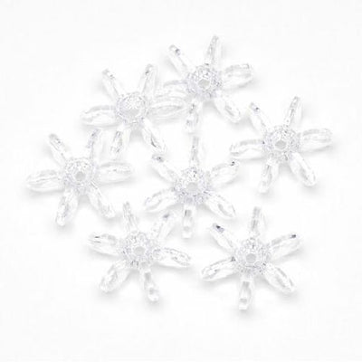 12mm Transparent Crystal Clear Starflake Beads 500 Pieces - artcovecrafts.com