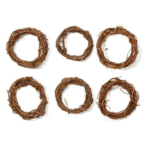 6 inch Natural Small Grapevine Wreath 1 Piece - artcovecrafts.com