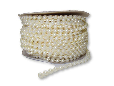 4mm Ivory Plastic Fused Pearls Garland Strands for Decorating & Crafts 24 Yards - artcovecrafts.com