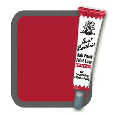 Brick Red Aunt Martha's Ballpoint Embroidery Fabric Paint Tube Pens 1 oz - artcovecrafts.com