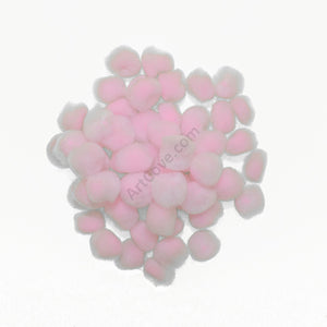 0.5 inch Light Pink Tiny Craft Pom Poms 100 Pieces - artcovecrafts.com