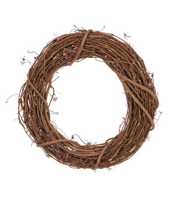 8 inch Natural Grapevine Wreath 1 Piece - artcovecrafts.com