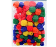 0.5 & 1 inch Multi Colored Pom Pom Beads 75 Pieces - artcovecrafts.com