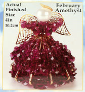 February Birthstone Angel Christmas Ornament Kit - artcovecrafts.com