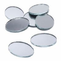 2 x 1.5 inch Mini Oval Glass Mirrors 4 Pieces Mosaic Mirror Tiles - artcovecrafts.com
